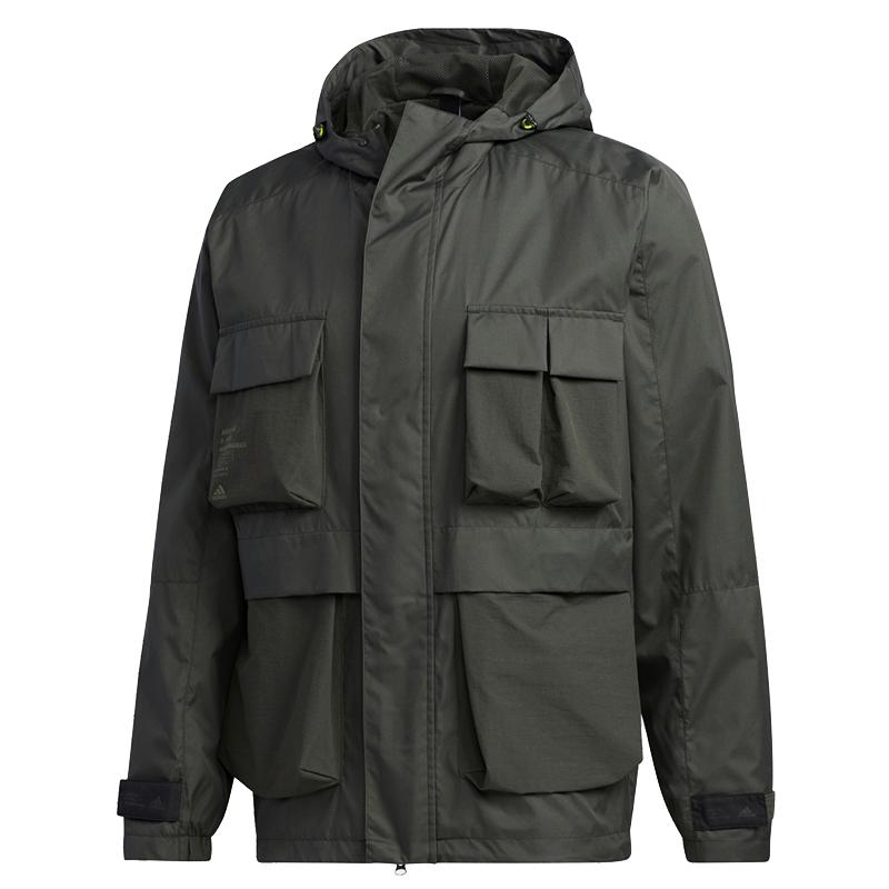阿迪达斯ADIDAS TH WB JKT 男装 运动防风衣工装休闲外套夹克 GF4013