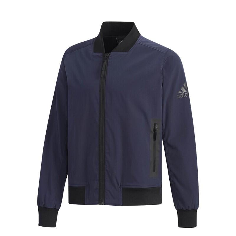 阿迪达斯adidas 男装 运动服跑步训练健身透气休闲外套 梭织夹克 DW4556