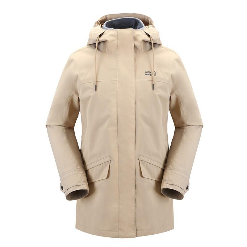 狼爪Jack wolfskin  女装 三合一防风保暖透气冲锋衣 5120241-5605