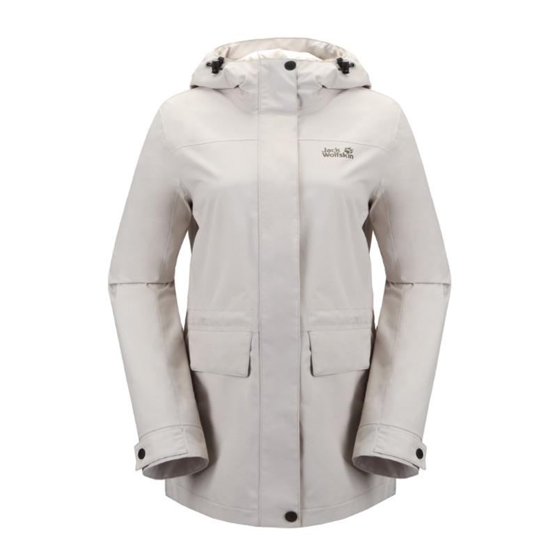 狼爪Jack wolfskin  女装 运动户外防风防水透气冲锋衣 5120201-6260
