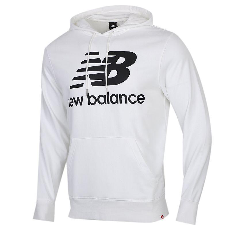NEW BALANCE  男装 运动服连帽套头衫卫衣 AMT03558-WT
