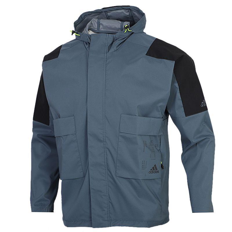阿迪达斯ADIDAS TECH 2L JKT 男装 工装运动连帽防风衣外套 FU6570
