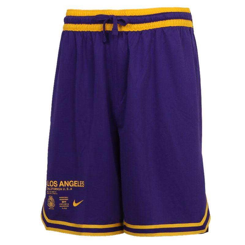 耐克NIKE LAL  SHORT DNA CTS 男装 运动篮球透气训练五分裤 CV5514-504