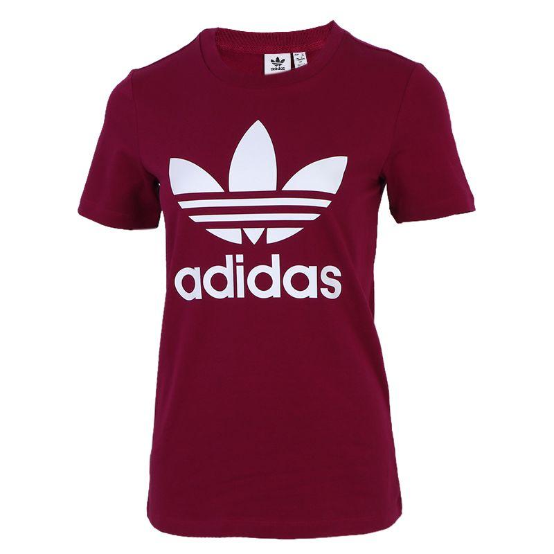 阿迪达斯三叶草ADIDAS TREFOIL TEE 女装 运动训练透气短袖T恤 GD2433