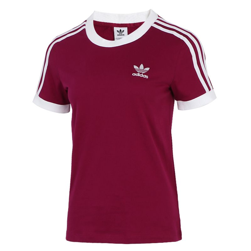 阿迪达斯三叶草ADIDAS 3 STR TEE 女装 运动跑步训练透气T恤 GD2443