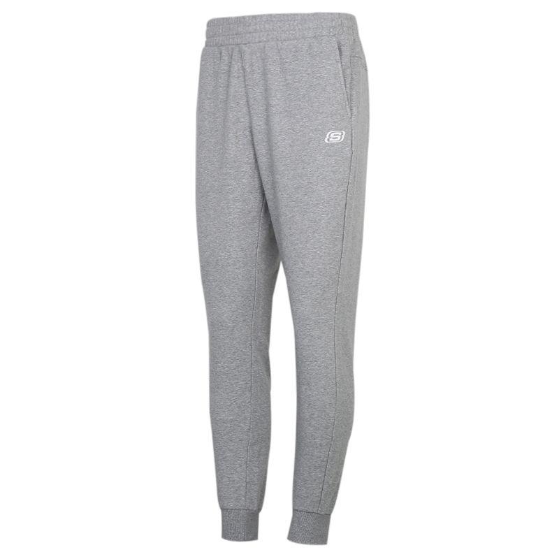 斯凯奇SKECHERS 男装 运动跑步训练健身舒适透气轻便宽松束脚休闲针织长裤 L320M155-00C4