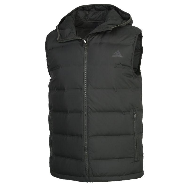 阿迪达斯ADIDAS Helionic Vest 男装 运动休闲保暖羽绒服 GD4729