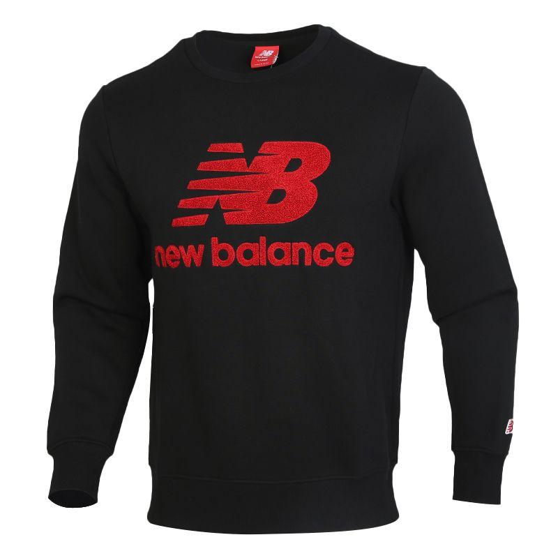 NEW BALANCE 男装 运动卫衣休闲圆领套头衫 AMT93546-BK