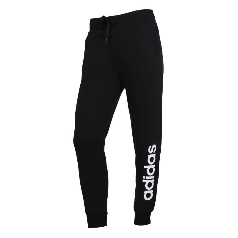 阿迪生活Adidas NEO W ESNTL LOGO TP 女装 运动针织长裤 GJ7917