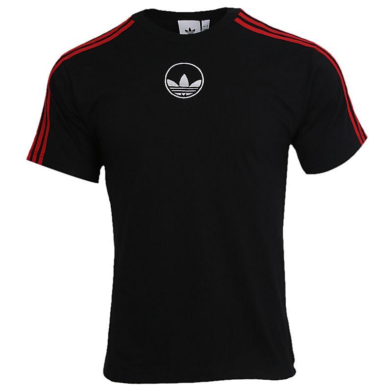 阿迪达斯三叶草ADIDAS 3 STRIPE CIRCLE 男装 运动休闲透气短袖T恤 GD2123