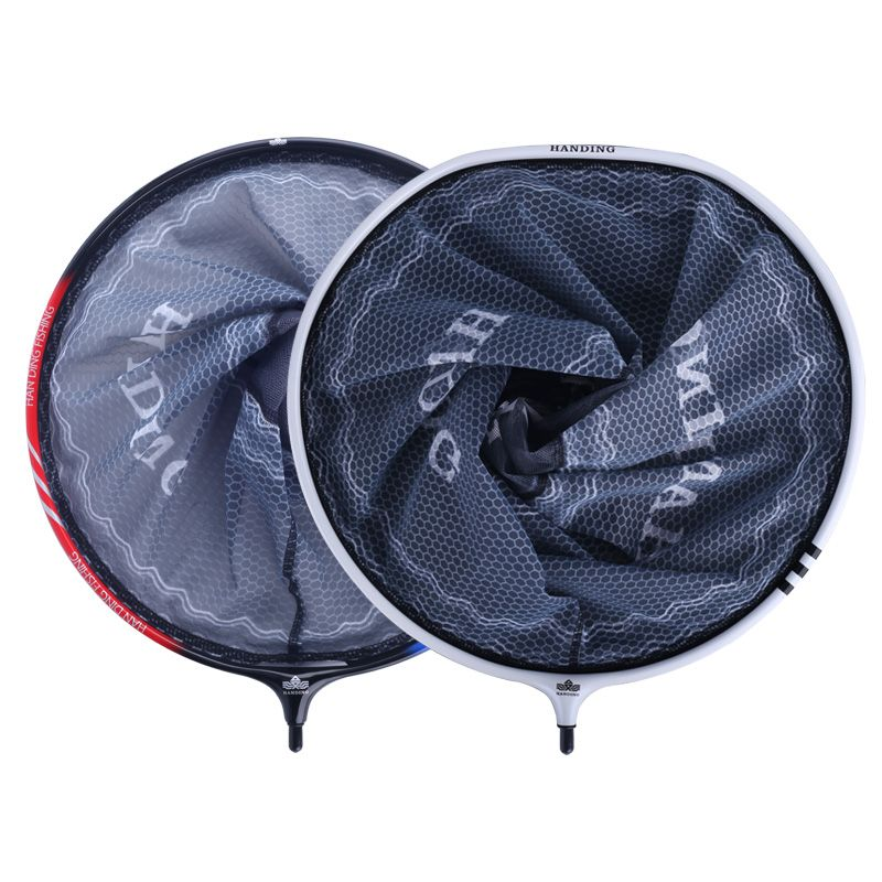 汉鼎碳铝一体抄网头钛合金超轻超硬网头纳米防刮网兜钓鱼捞鱼网头