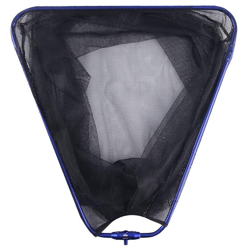 汉鼎大物抄网头可折叠三角形铝合金网头涂胶防挂网兜钓鱼捞鱼网头