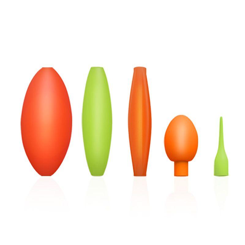 汉鼎浮漂醒目豆灵敏加粗放大豆泡沫硅胶圆柱形远近视漂尾豆小配件