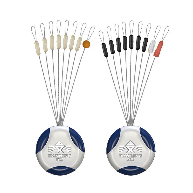 汉鼎太空豆钓鱼用品硅胶橡胶线组套装刻度铅漂座八字环小配件JXZ