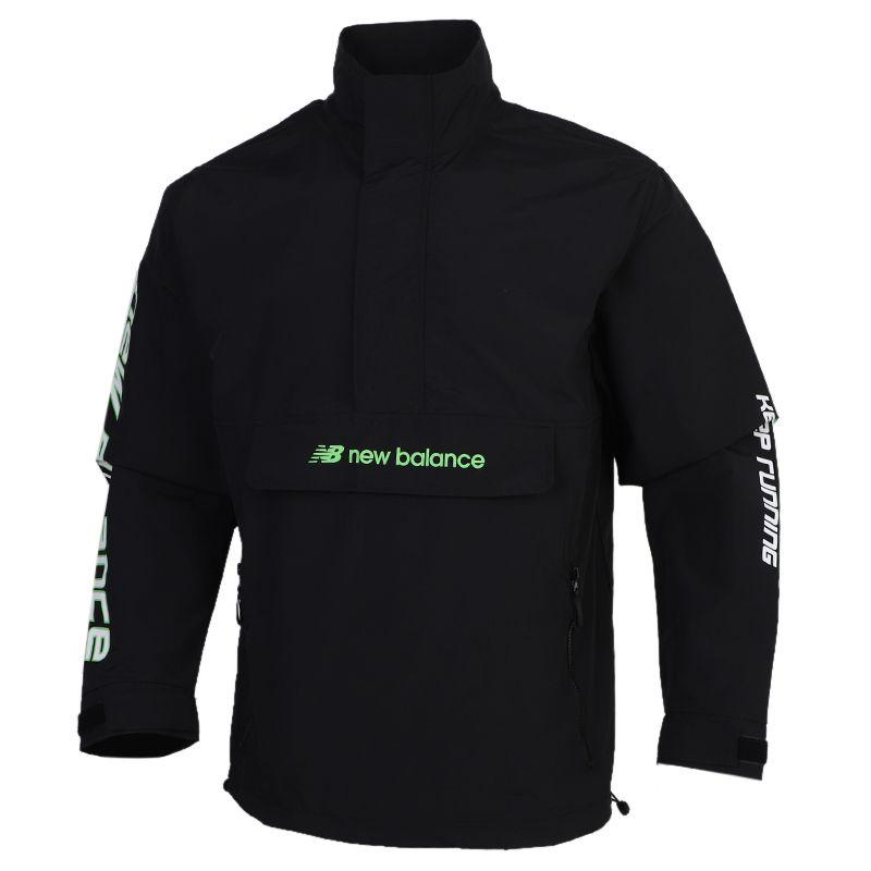 NEW BALANCE 男装 2020秋冬新款运动跑步训练健身透气舒适休闲外套梭织夹克 AMJ03321-BK