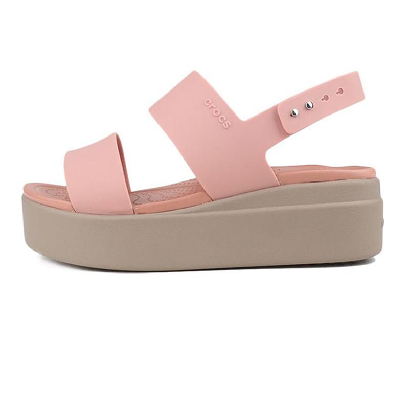 卡骆驰Crocs  女鞋 布鲁克林女士厚底凉鞋凉鞋 206453-6RT 尺码偏小一码