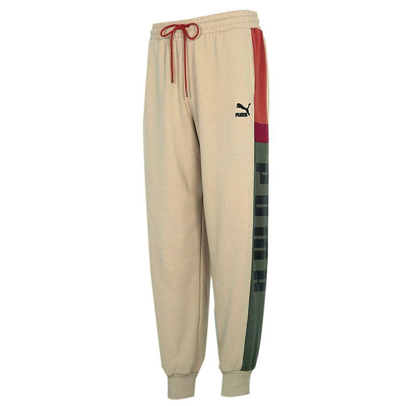 彪马PUMA PUMA Retro Block Sweatpants 男装 运动宽松训练休闲长裤 530714-12