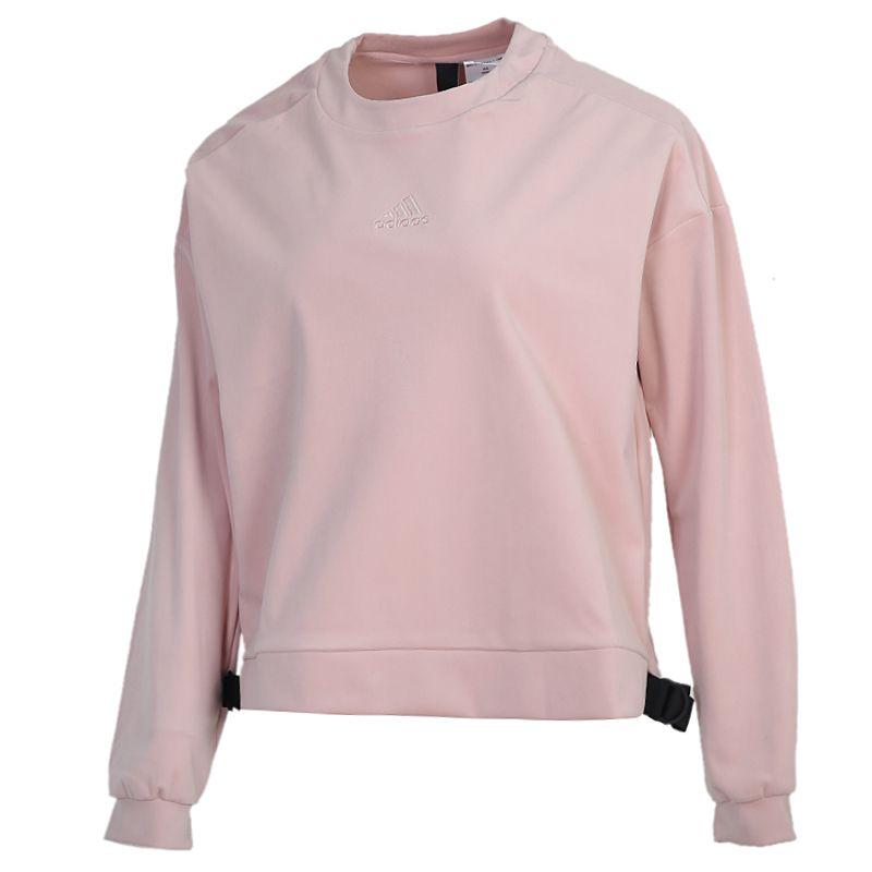 阿迪达斯ADIDAS STYLE VELOR SWT 女装 健身运动套头衫卫衣 GM1462