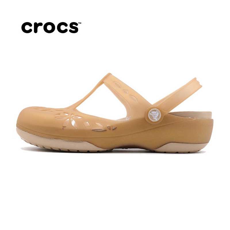 Crocs 卡骆驰 女子伊莎贝拉户外休闲坡跟凉鞋204939 204939-6OM 204939-6PM