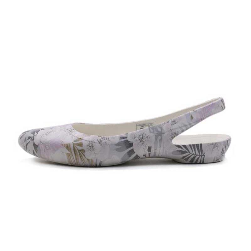 卡骆驰 Crocs 女子 凉鞋春季伊芙花纹露跟鞋平底尖头休闲鞋204957-95Z