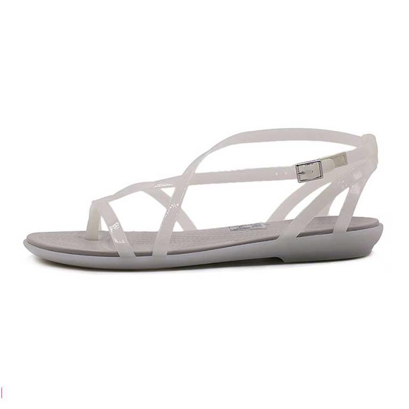 卡骆驰 Crocs 女子 伊莎贝拉防滑沙滩鞋罗马平底休闲束带凉鞋204914-17B