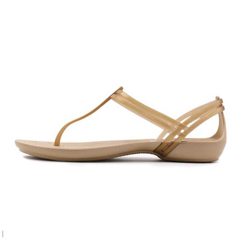 卡骆驰 Crocs 女子 夏伊莎贝拉T型夹脚平底沙滩鞋休闲凉鞋202467-854
