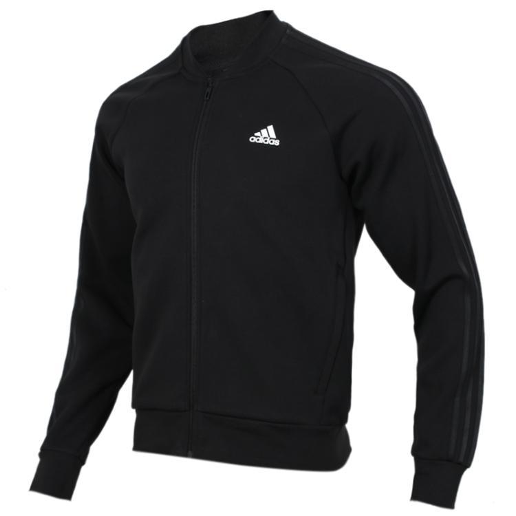 Adidas阿迪达斯男装上衣 2019春季 运动服时尚立领舒适防风针织夹克开衫外套DW4655