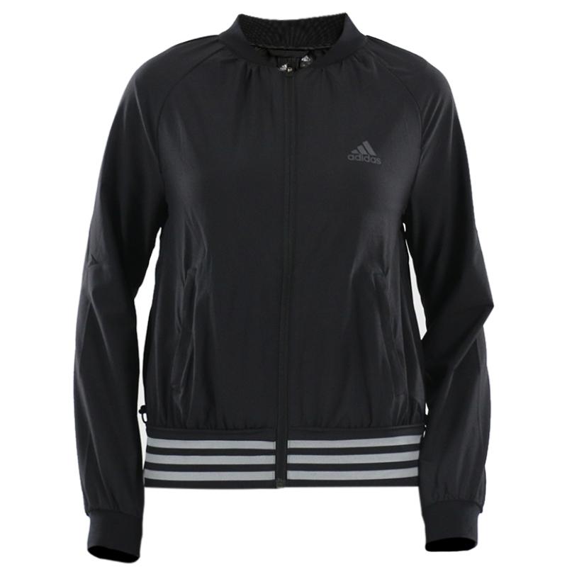 阿迪达斯Adidas女装 秋季 运动休闲梭织防风透气立领夹克外套DM5312 DM5311