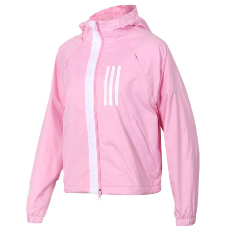 Adidas阿迪达斯女装 2019春季 运动服舒适耐磨连帽防风衣夹克外套DZ0036