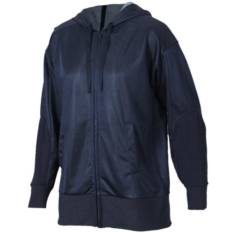 耐克NIKE 女装 运动服休闲舒适透气保暖针织连帽夹克外套 929833-451