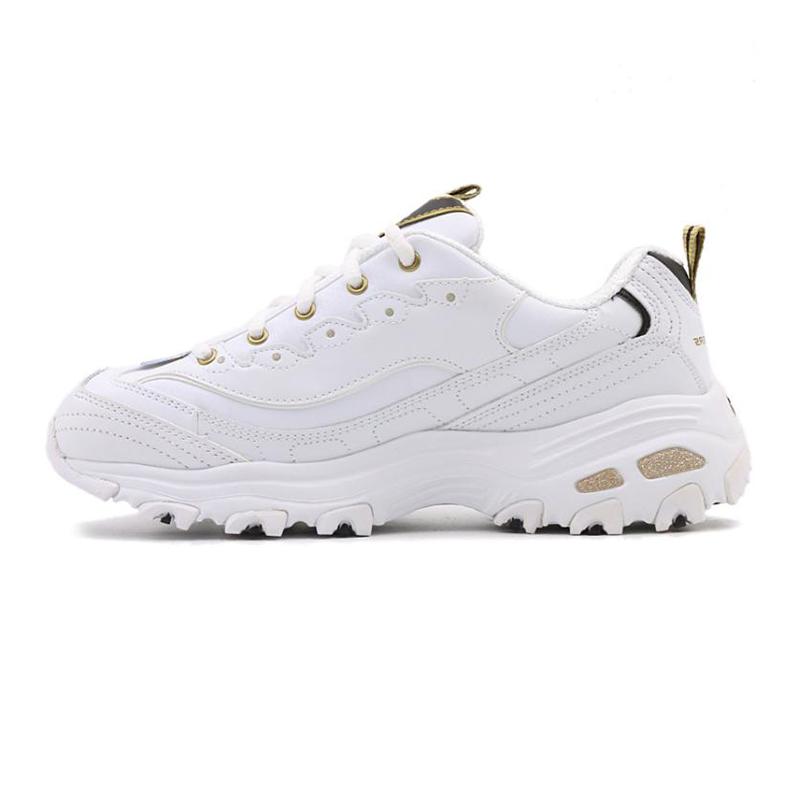 斯凯奇女鞋 Skechers  D'lites时尚熊猫鞋 厚底增高休闲鞋 金标11919-WBGD