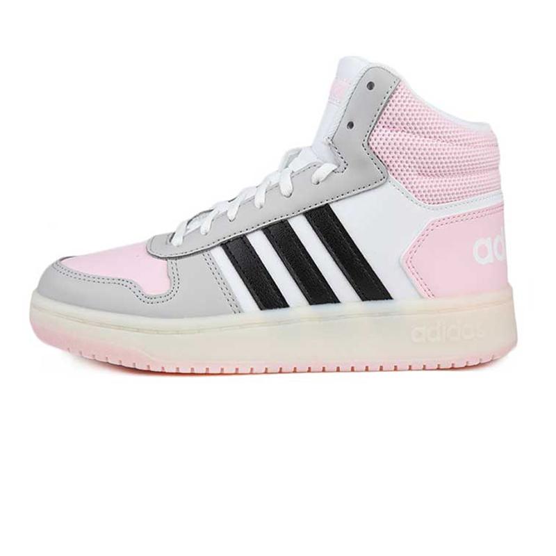 阿迪生活 Adidas NEO HOOPS 2.0 MID 女子 舒适透气时尚潮流缓震耐磨高帮休闲鞋 FV2737