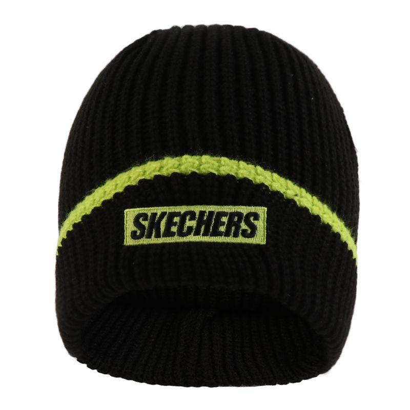 斯凯奇SKECHERS 女子 针织保暖毛线运动帽 L420U020-002K