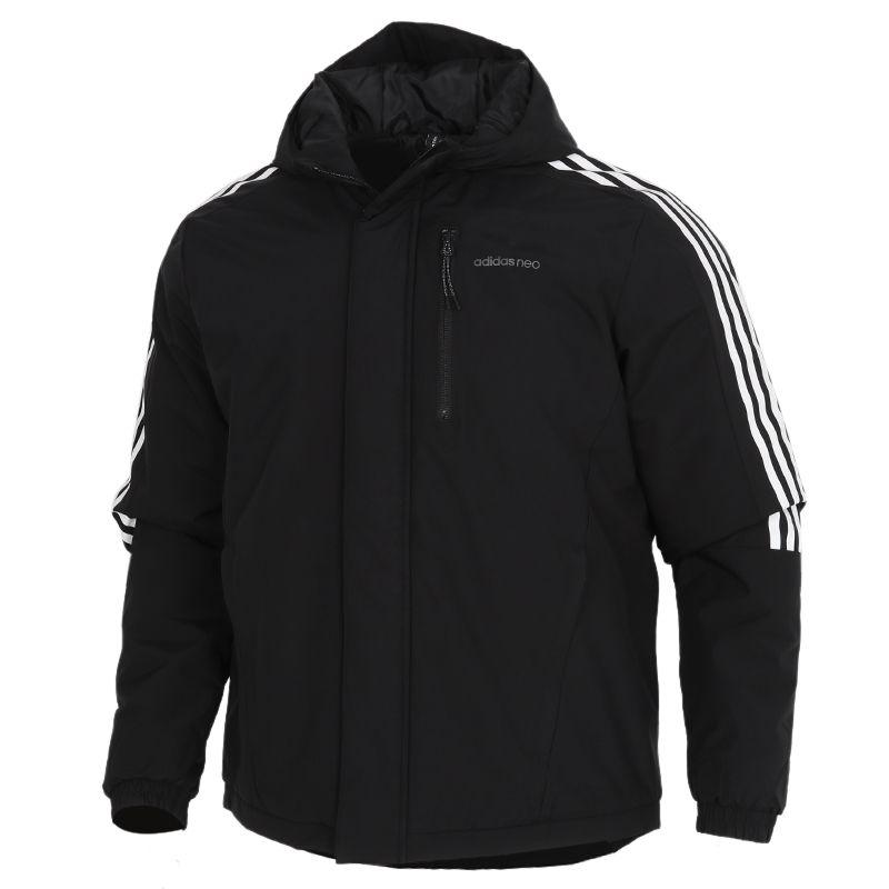 阿迪达斯生活Adidas NEO  3S PAD JKT 男装 运动服连帽休闲保暖棉衣 GJ8860