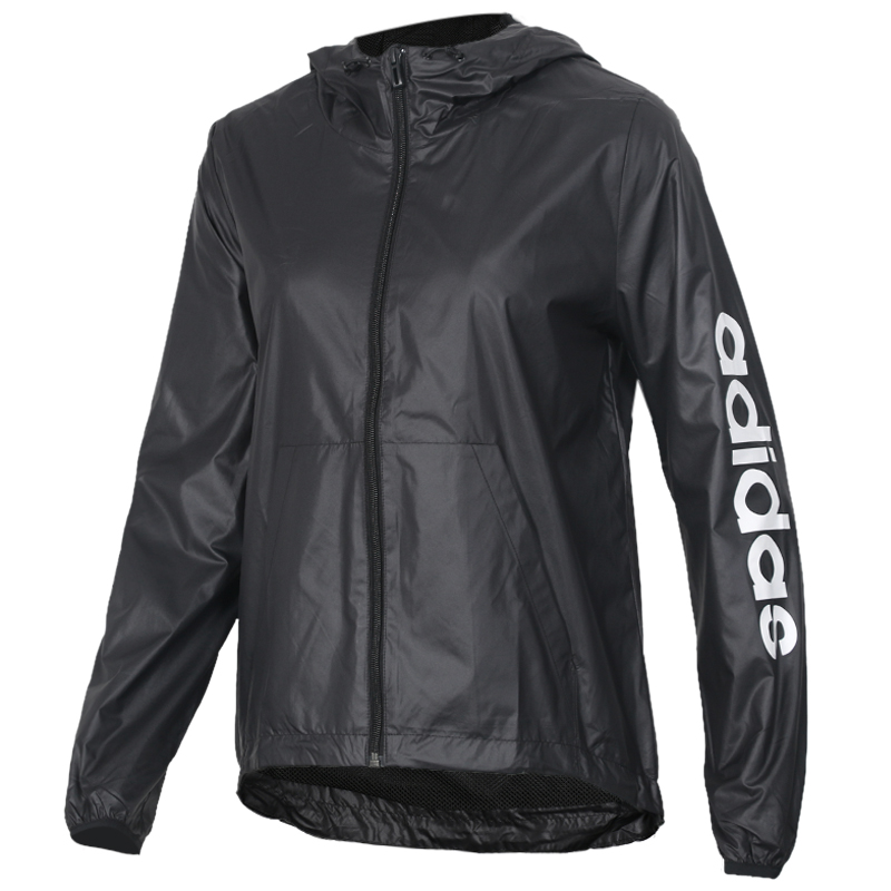 阿迪达斯Adidas 女装  时尚耐磨上衣潮流休闲夹克跑步训练运动服防风外套 DP2408