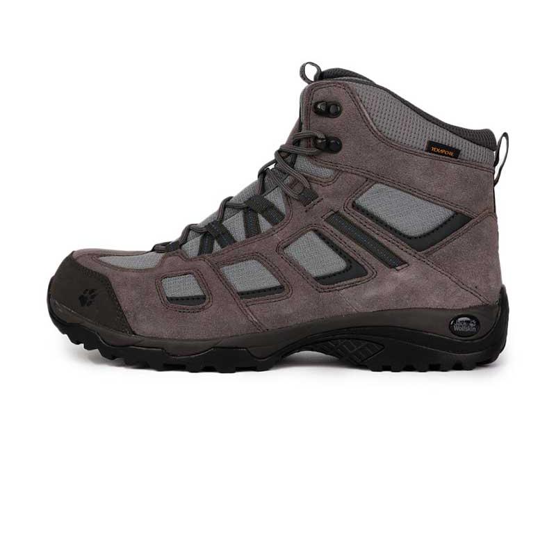 狼爪 Jack wolfskin 男子 户外运动鞋徒步越野舒适耐磨透气时尚高帮休闲鞋登山鞋 4032371-6011