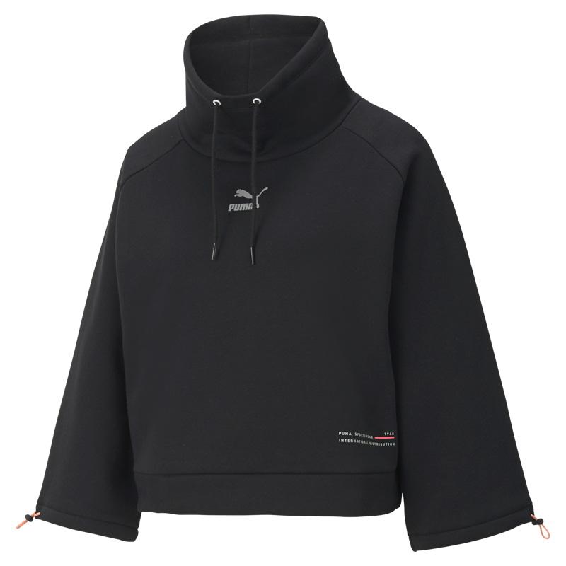 彪马PUMA INTERSTELLAR Funnel-Neck Sweater Wmns 女装 宽松运动服长袖套头衫 530299-01