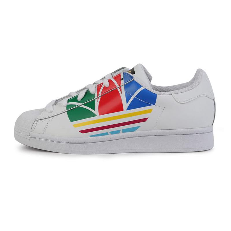 阿迪达斯三叶草ADIDAS SUPERSTAR PURE J 儿童 贝壳头运动鞋经典休闲鞋 FW4005