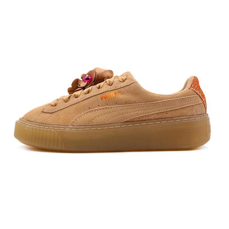 PUMA 彪马 Platform Flower Tassel 女子 蕾哈娜厚底增高松糕鞋缓震舒适时尚休闲鞋板鞋 369181-02