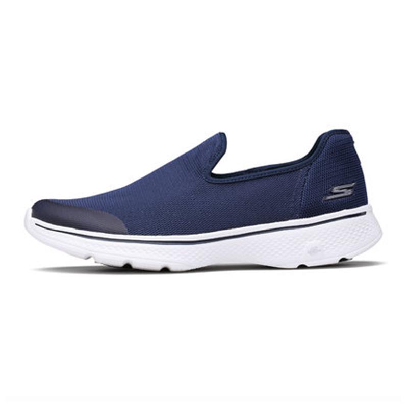 斯凯奇 Skechers 男子 GO WALK 4 网面健步鞋低帮懒人运动鞋54152-NVGY