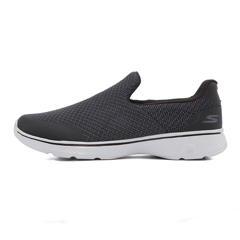 斯凯奇男子 时尚潮流舒适运动鞋低帮耐磨一脚穿透气休闲鞋54155-BKGY