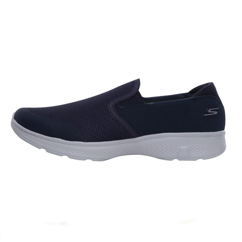 斯凯奇Skechers男子 运动鞋一脚穿缓震健步鞋透气休闲舒适懒人跑步鞋54171-NVGY
