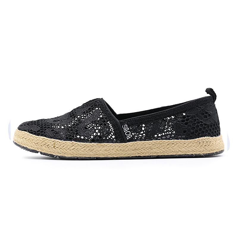 斯凯奇 Skechers 女鞋  时尚一脚穿舒适透气镂空懒人鞋休闲鞋66666096-BBK  66666096-NAT 偏大半码