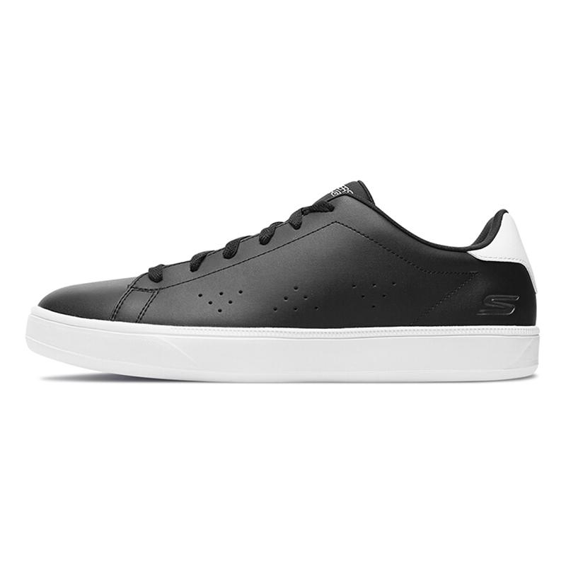 斯凯奇 Skechers  男子 运动时尚简约皮革休闲板鞋  53841-WNV