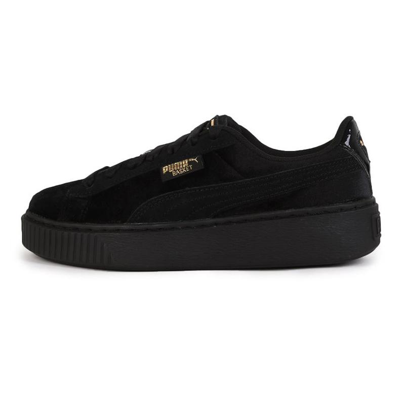 彪马PUMA Platform Velvet  女鞋 运动复古时尚潮流耐磨舒适透气板鞋休闲鞋 373935-01