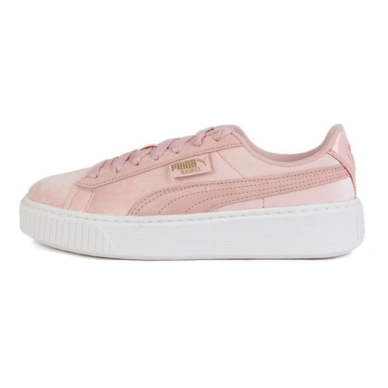 彪马PUMA Platform Velvet Wn's 女鞋 运动复古时尚耐磨低帮透气休闲跑步鞋 373935-02