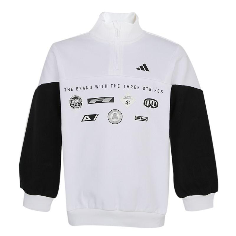 阿迪达斯ADIDAS YB ELE CREW 儿童 运动休闲套头衫卫衣 GG3687