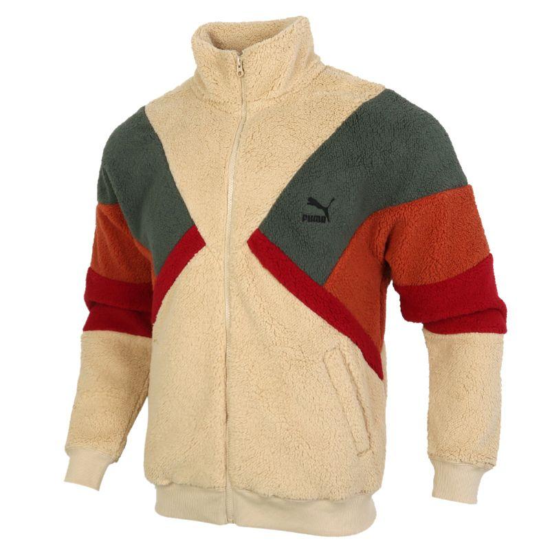 彪马PUMA Retro Block Sherpa Jacket 男装 撞色立领休闲防风夹克 530808-12