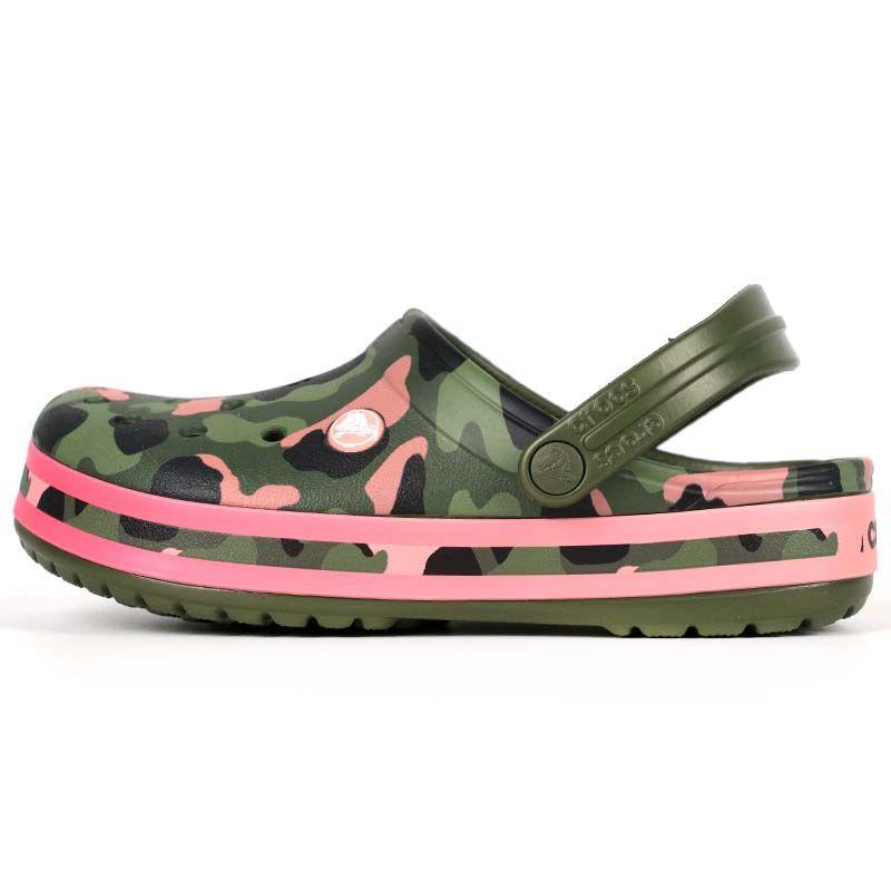 卡骆驰Crocs 男女 卡骆班花纹克洞洞凉鞋凉鞋拖鞋 205579-3S9 下单赠送智必星鞋扣一个