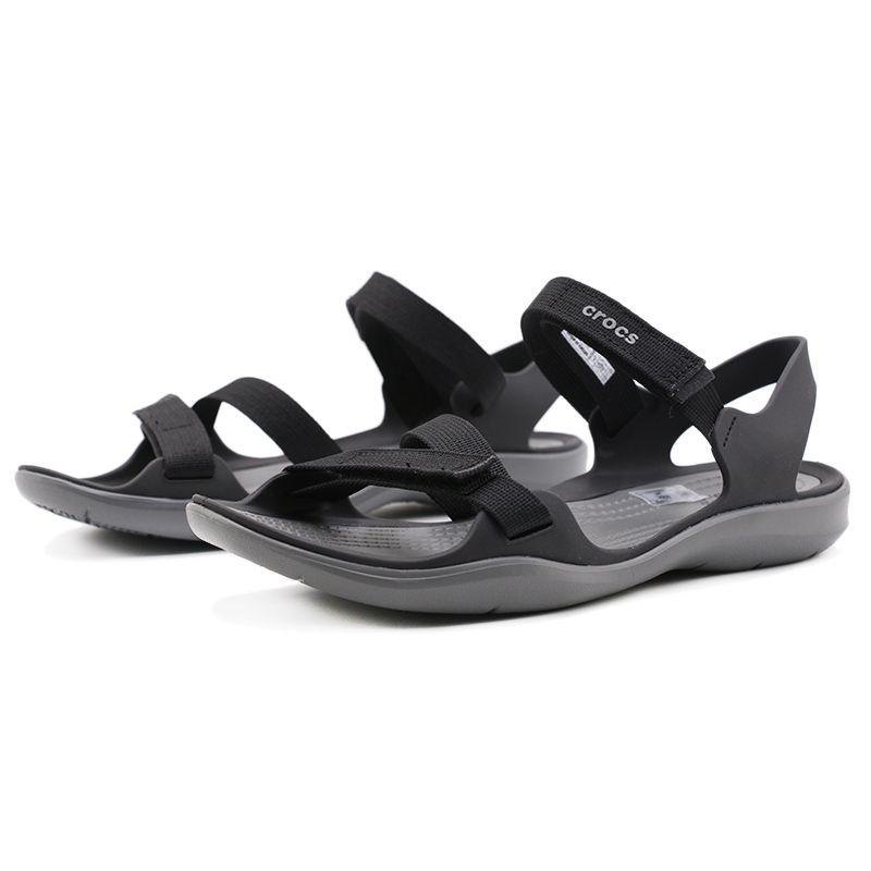 卡骆驰Crocs 女士激浪织带凉鞋 女鞋 凉拖鞋 凉鞋 204804-001